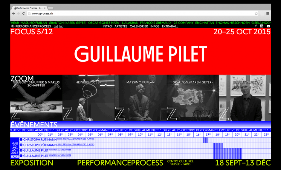 Ludovic Balland – Process Website 2015