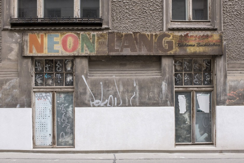 NEON LANG Reklame Buchstaben