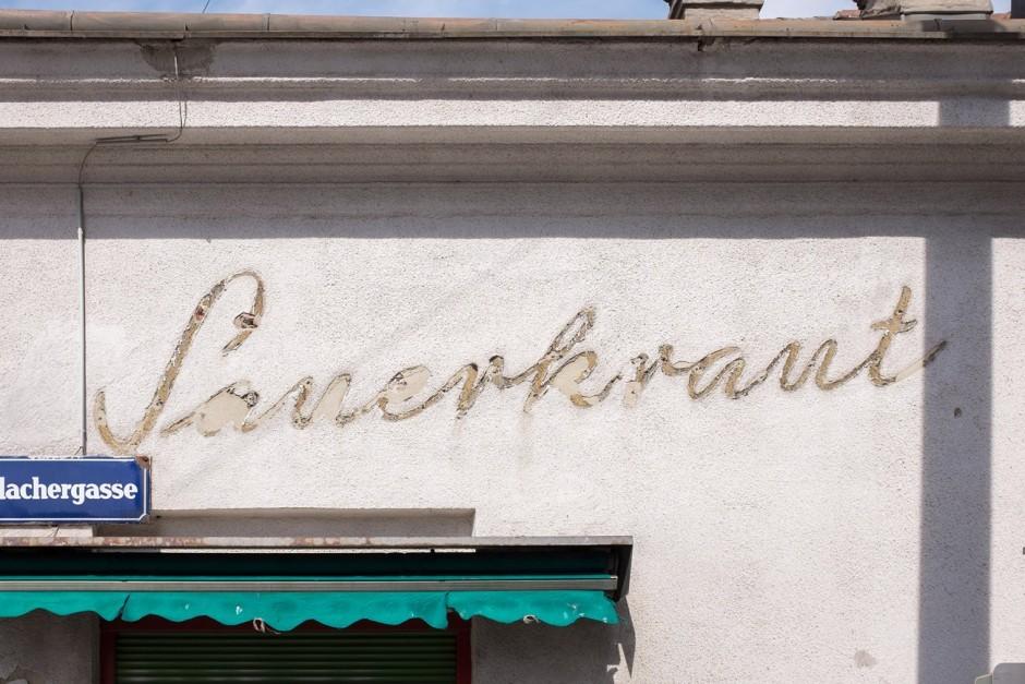Ghostletter Ikone am Brunnenmarkt: Sauerkraut