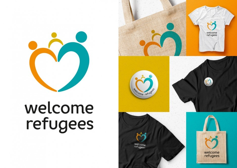 HAWK – Logo welcome refugees, Pia Wulf