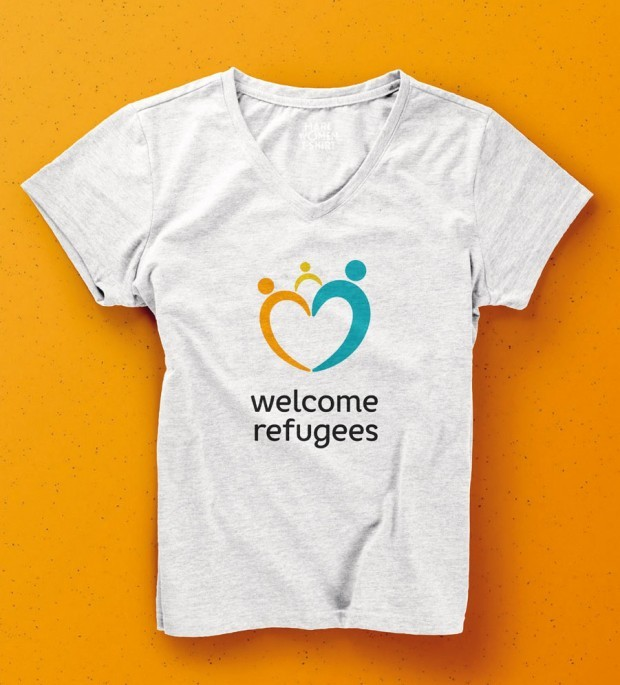 HAWK – T-Shirt welcome refugees