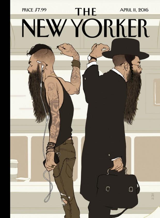Sehr lustig brachte Tomer Hanuka verblüffende Ähnlichkeiten zwischen orthodoxen Juden und Hipstern für den berühmten »New Yorker« auf den Punkt. http://thanuka.com/