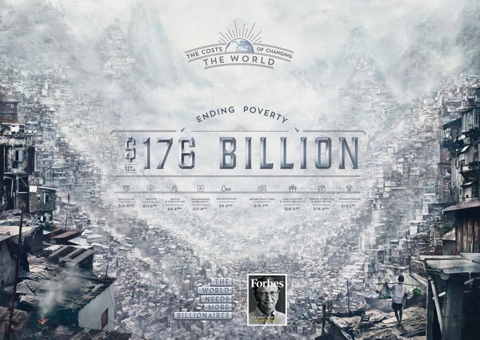 Brauchen wir wirklich mehr Milliardäre? Das vielfach preisgekrönte Carioca Studio aus Bukarest schuf die die digitalen Bildwelten für diese Kampagne des Wirtschaftsmagazins »Forbes«