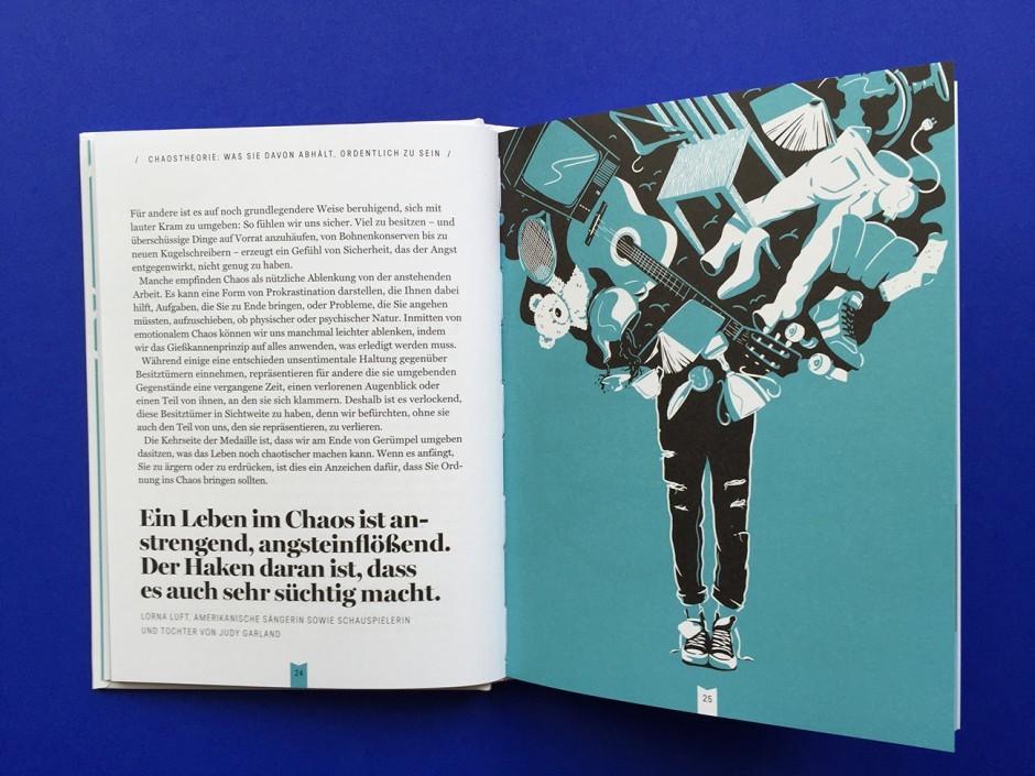 Julia Murray illustrierte das hilfreiche Büchlein »Endlich aufgeräumt« von Harriet Griffey, das auf Deutsch bei Eden Books erscheint (160 Seiten, 12,95 Euro, ISBN 978-3-959100-59-5)