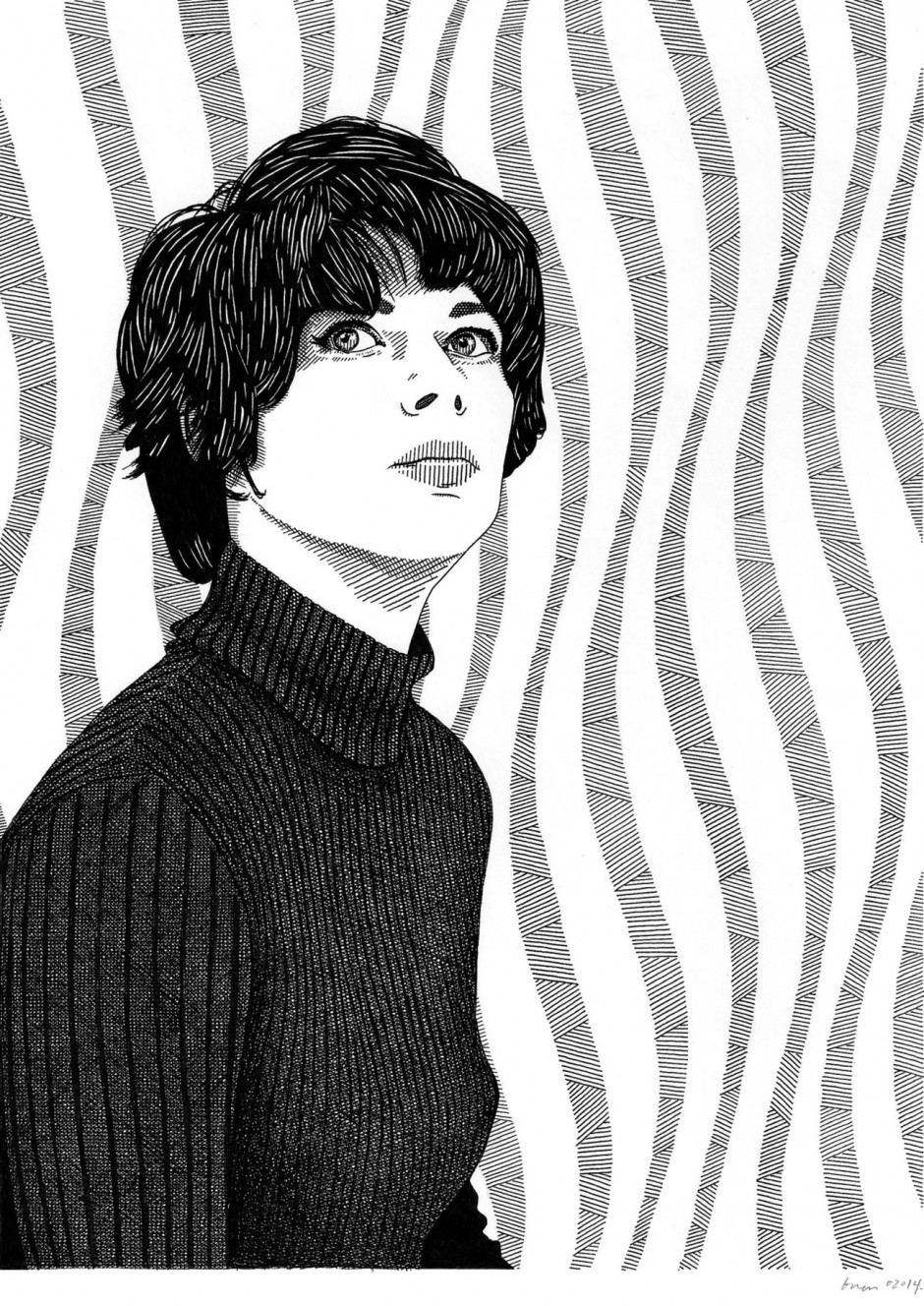 Portrait der Op-Art-Malerin Bridget Riley