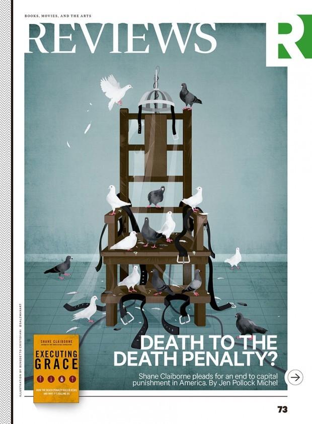 Das Ende der Todestrafe? Illustration von Benedetto Cristofani für den Aufmacher zum Literaturteil von »Christianity Today«. http://www.benedettocristofani.net/