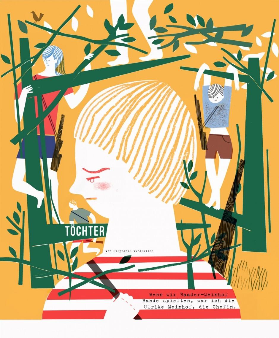 Cover für Geschichte »Töchter« im Spring Magazin
