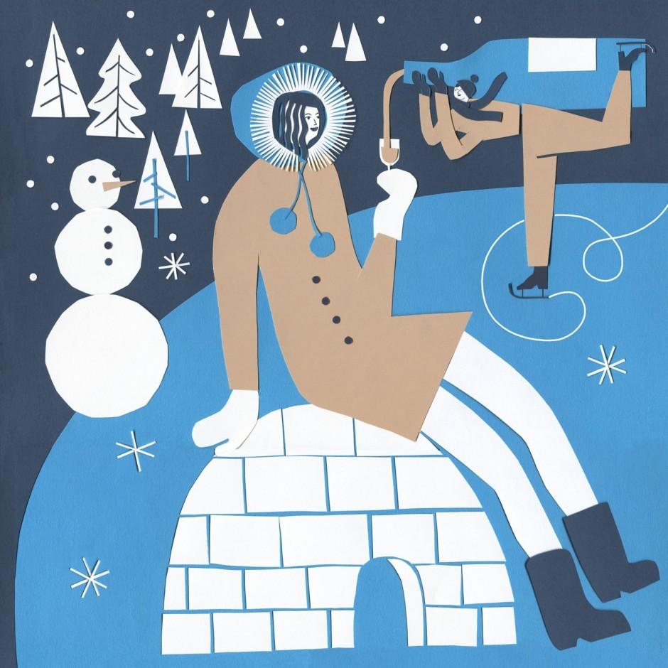 Illustration Vinothek Beilage der Süddeutsche Zeitung /Winter