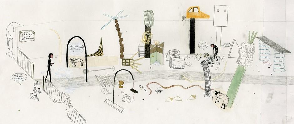 Der »Garten der Isselschweine« ist inspiriert durch Installationen der Hamburger Künstlerin Verena Issel.