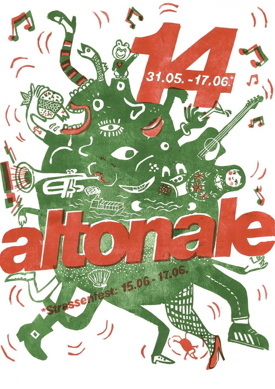 Key Visual für die Altonale, Linodruck, 2012