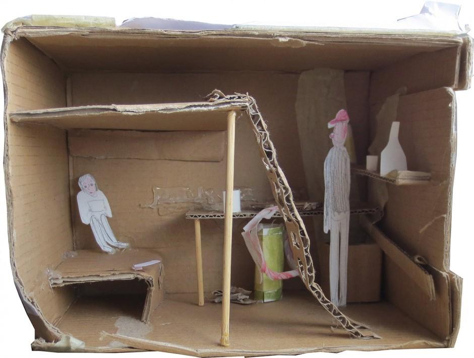 Modell für den Wohncontainer