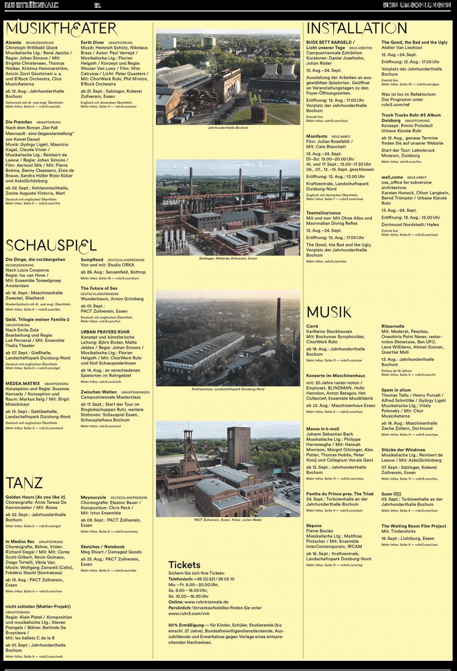 Ruhrtriiiennale: Beileger F.A.Z. und Rheinische Post