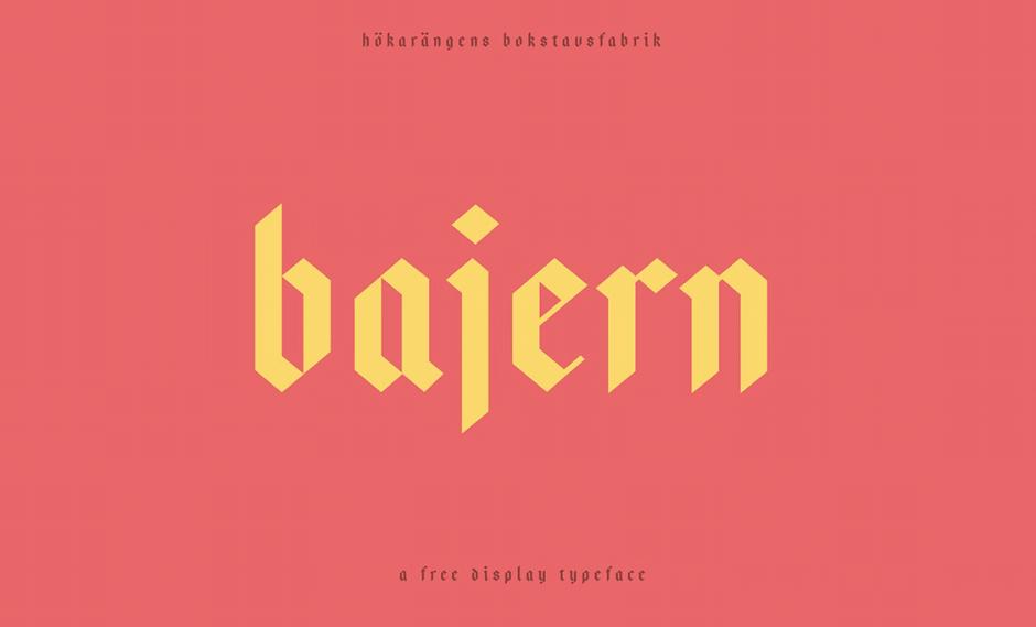Displayfont Bajern