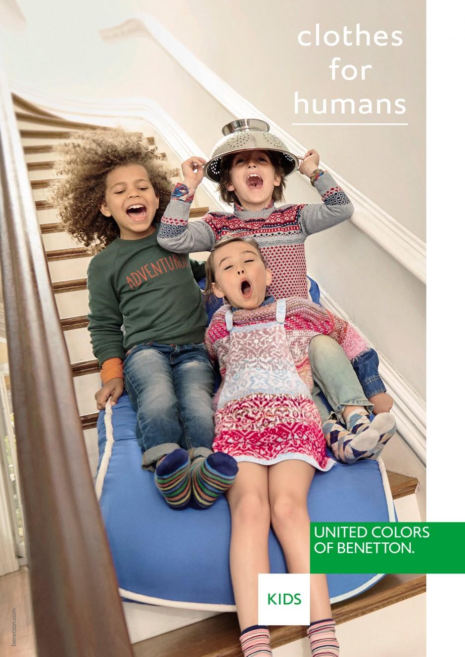Die Agentur 180 Amsterdam entwickelte den neuen Benetton-Markenauftritt mit dem Claim »Clothes for Humans«. Die Kindermode-Fotos schoss Stefano Azario