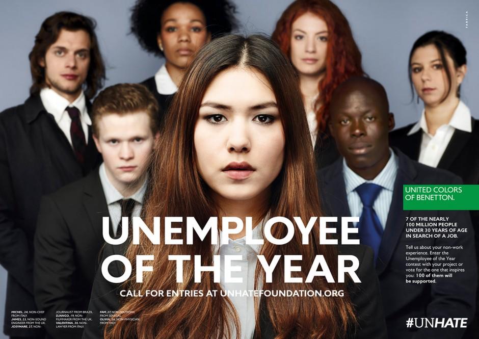 »7 of the nearly 100 million people under 30 years of age in search of a job« – so der Claim dieser Kampagne vom September 2012, die Fabrica mit der Werbeagentur 72andSunny realisierte