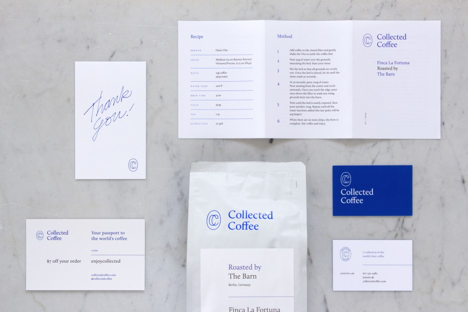 Branding and packaging for specialty coffee