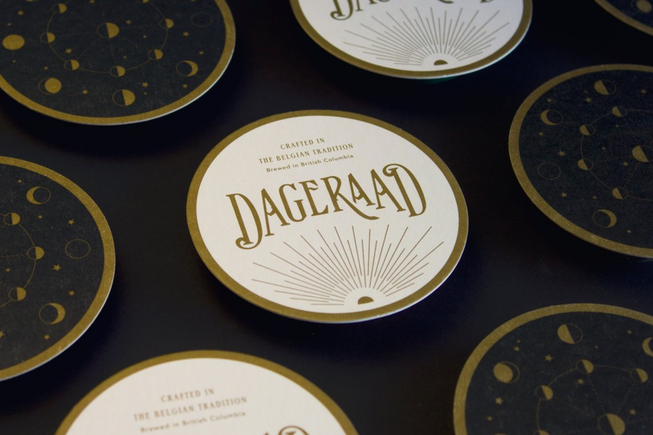 Coasters for Dageraad craft beer