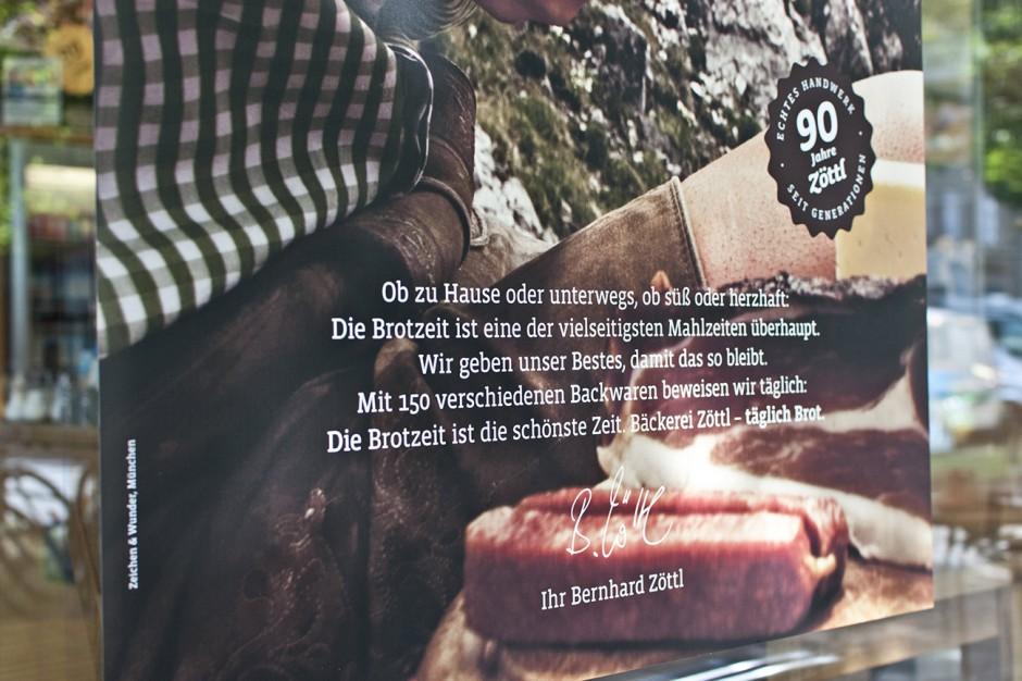90 Jahre Brotzeit: Plakat