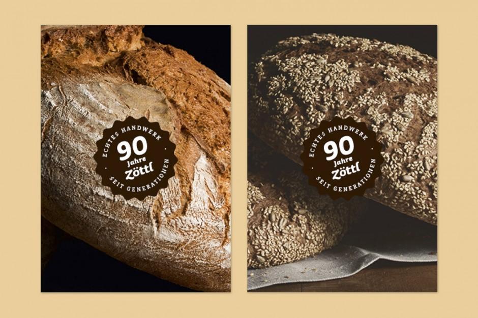90 Jahre Brotzeit: Tischaufsteller