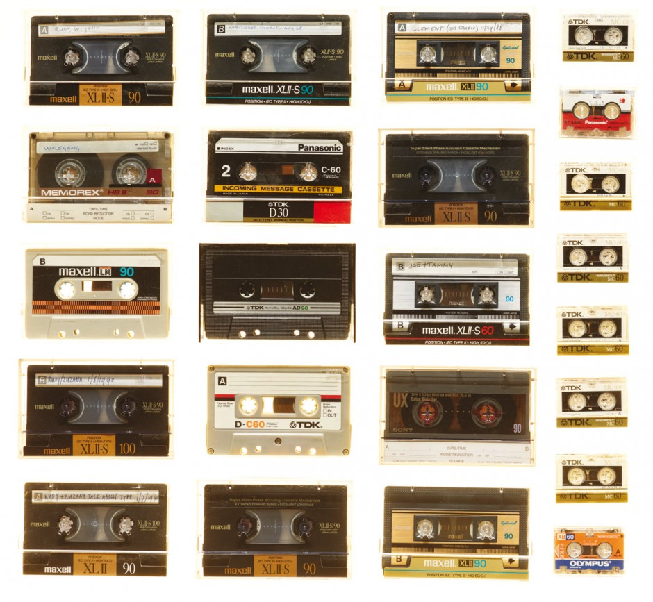 Cassette tapes containing interviews for Emigre magazine, 1988-1998
