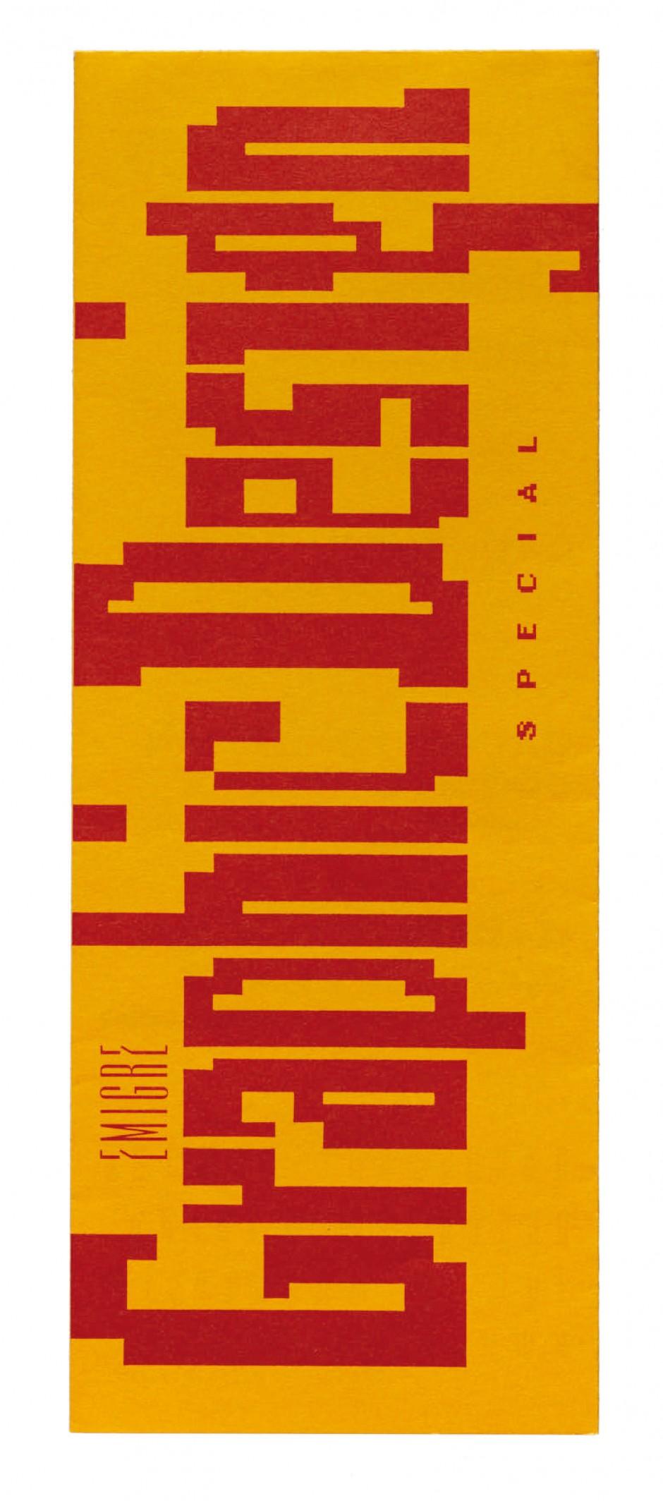 Flyer announcing Emigre magazine #10, 1988