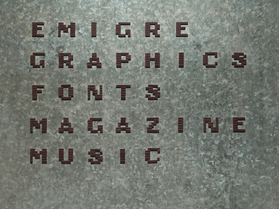 Studio entry sign made of magnets on sheet metal, 1987