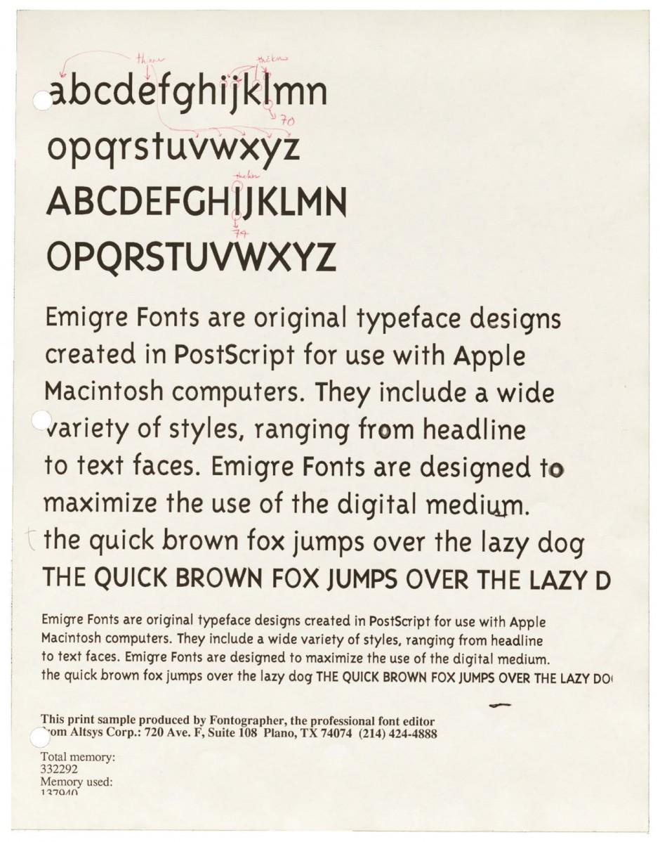 Kult Foundry Emigre Inc Macht Dem Letterform Archive