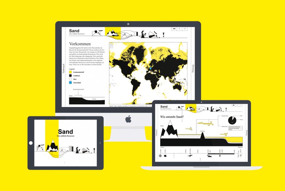 Masterarbeit »Sand – Eine endliche Ressource«, Wissensvermittlung mittels digitaler Plattform