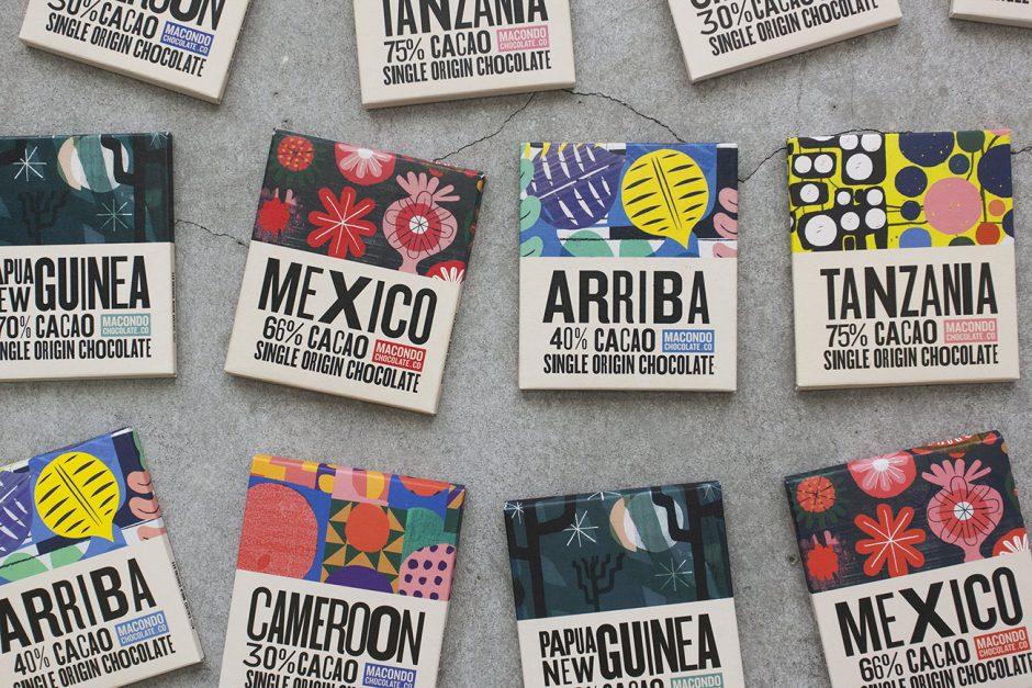 Macondo Chocolate: Verschiedene Motive