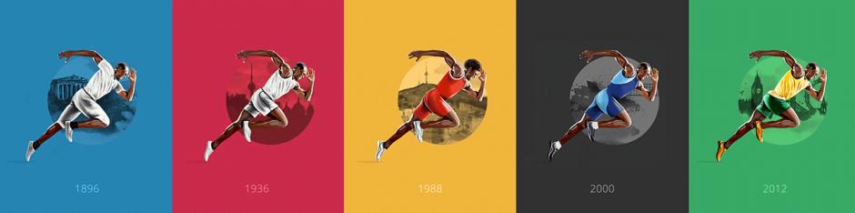 Die modische Entwicklung bei den Olympischen Spielen, festgehalten von Illustratorin Mona Torgersen