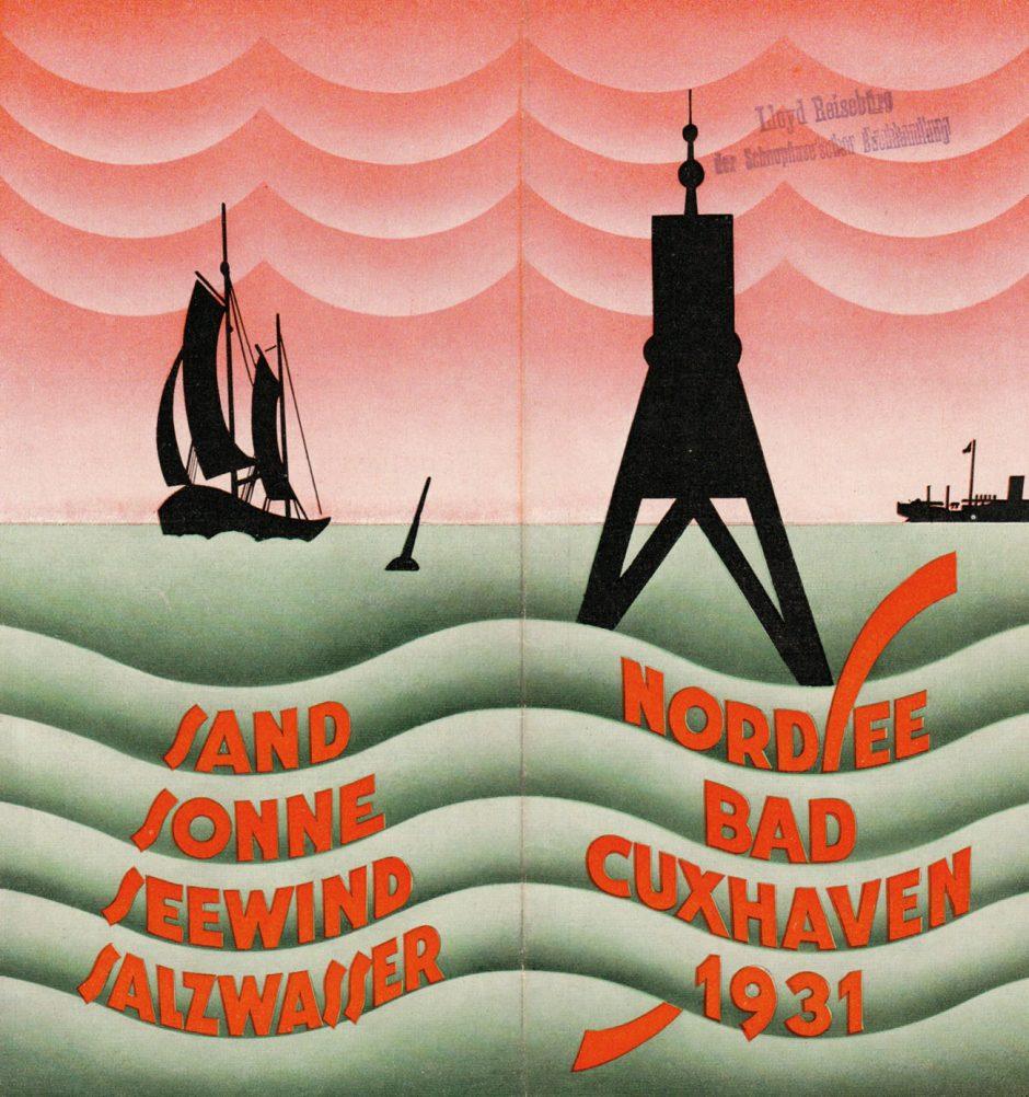 Badeprospekt von 1932, Covergestaltung Otto Niggemann