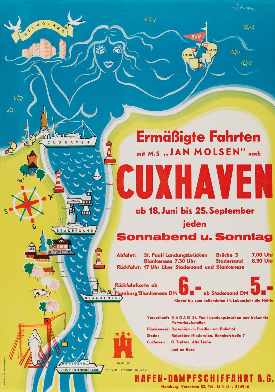 Plakat von 1960, signiert von Ütvar