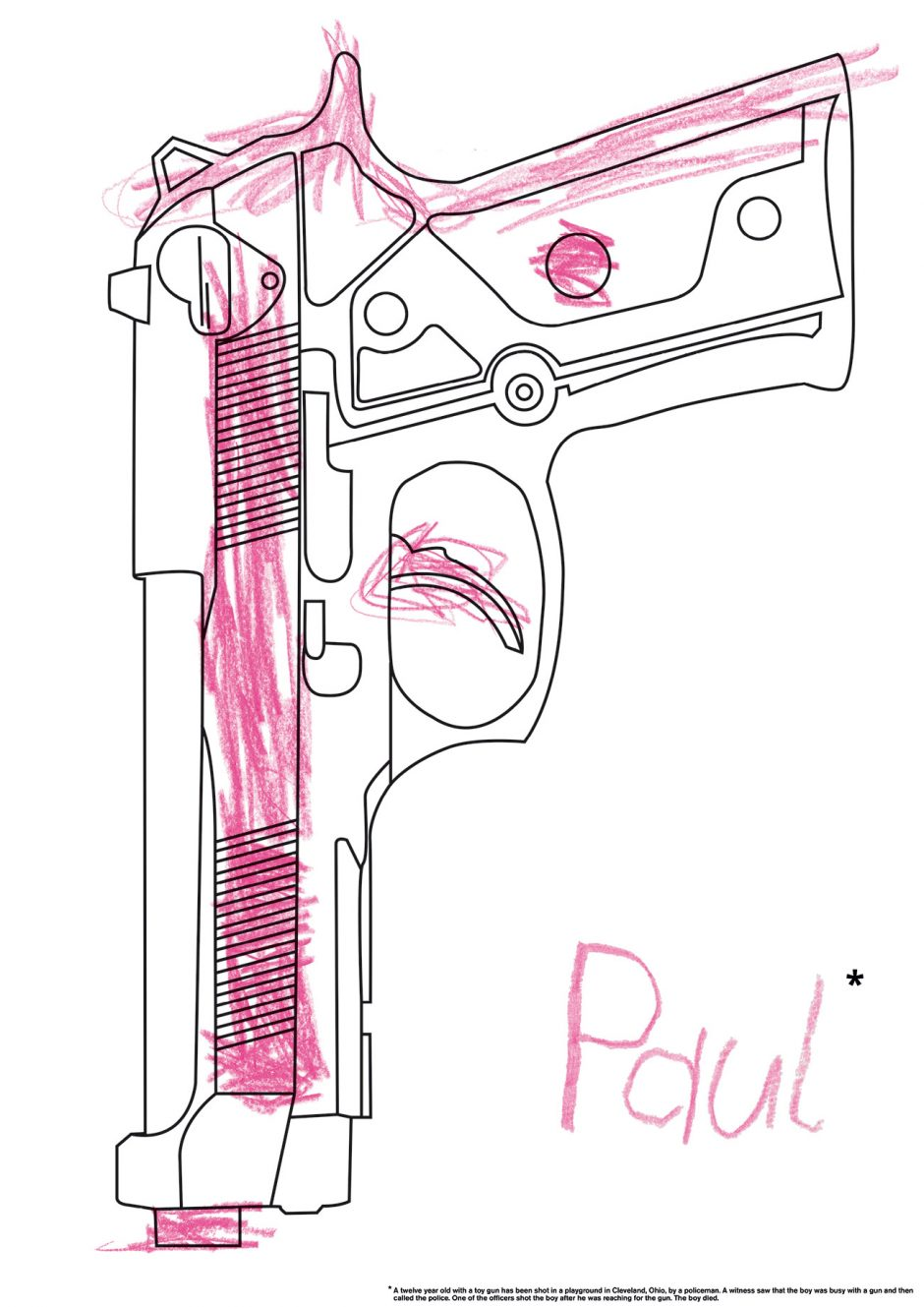 »Zwei Polizisten haben in den USA in der Stadt Cleveland (Ohio) einen Zwölfjährigen erschossen, nachdem der Junge auf einem Spielplatz eine Spielzeugpistole gezogen hatte.«
