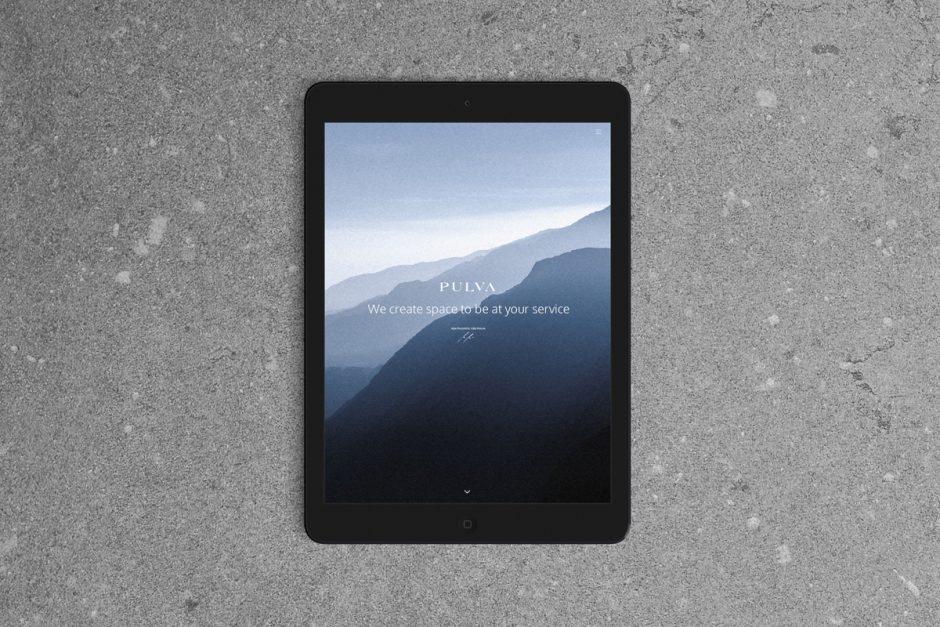 Ansicht der Webseite auf dem iPad