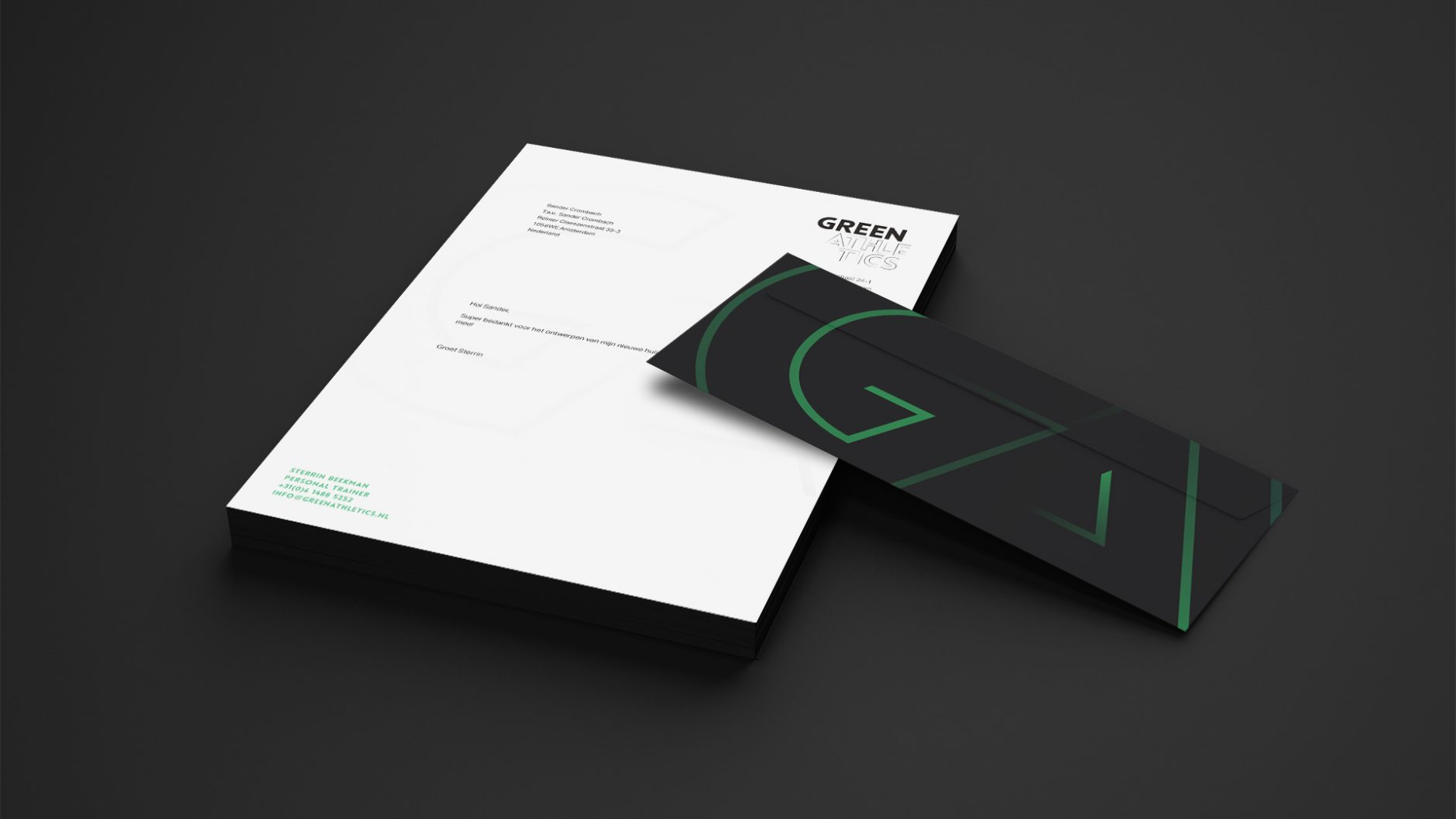 Green Athletics – Briefpapier