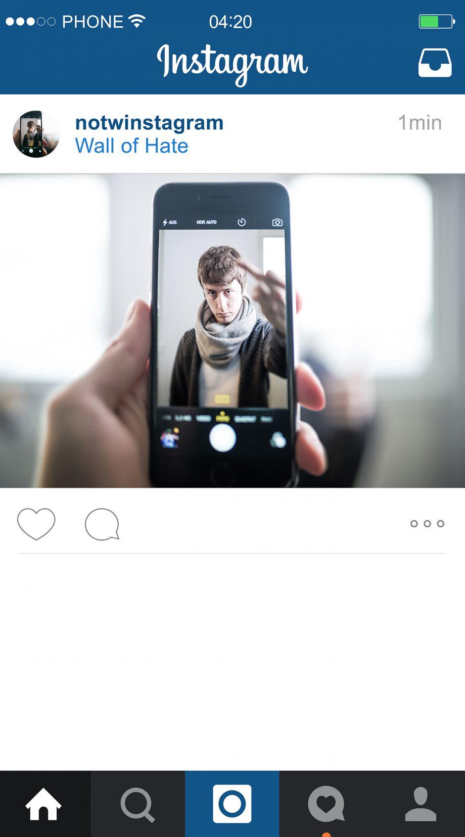NOTWInstagram – Selfie
