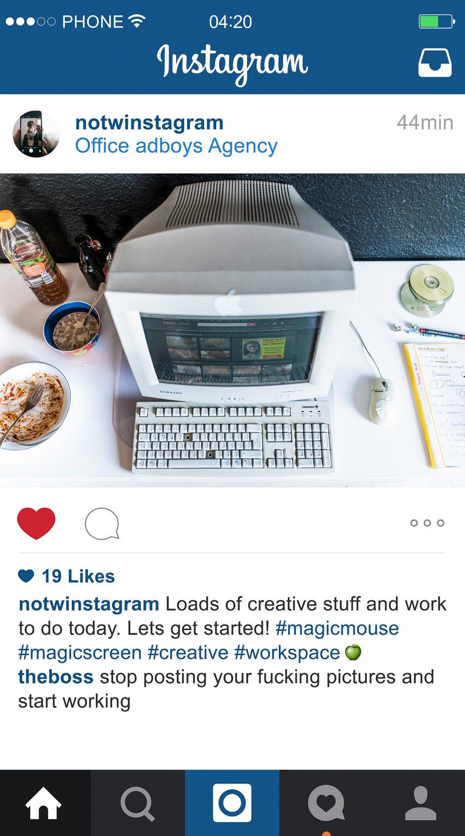 NOTWInstagram – Workspace
