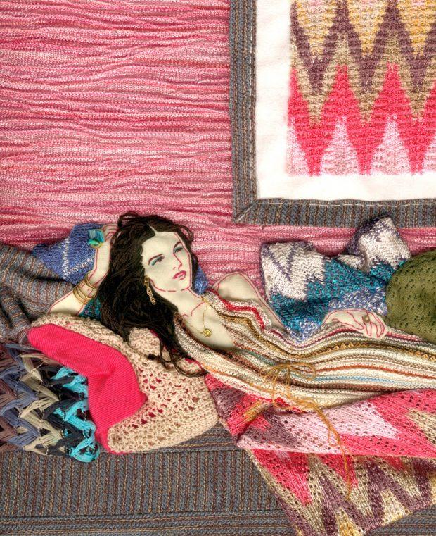 Eine der seit Jahren bekanntesten Textil-Illustratorinnen ist Paula Sanz Caballero aus Spanien. www.paulasanzcaballero.com