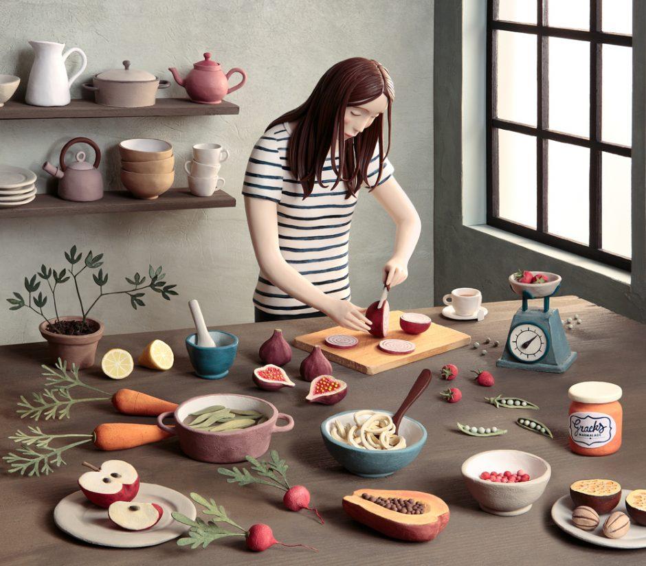 Im Studio von Irma Gruenholz in Madrid wird mit Knete gearbeitet. www.deplastilina.com