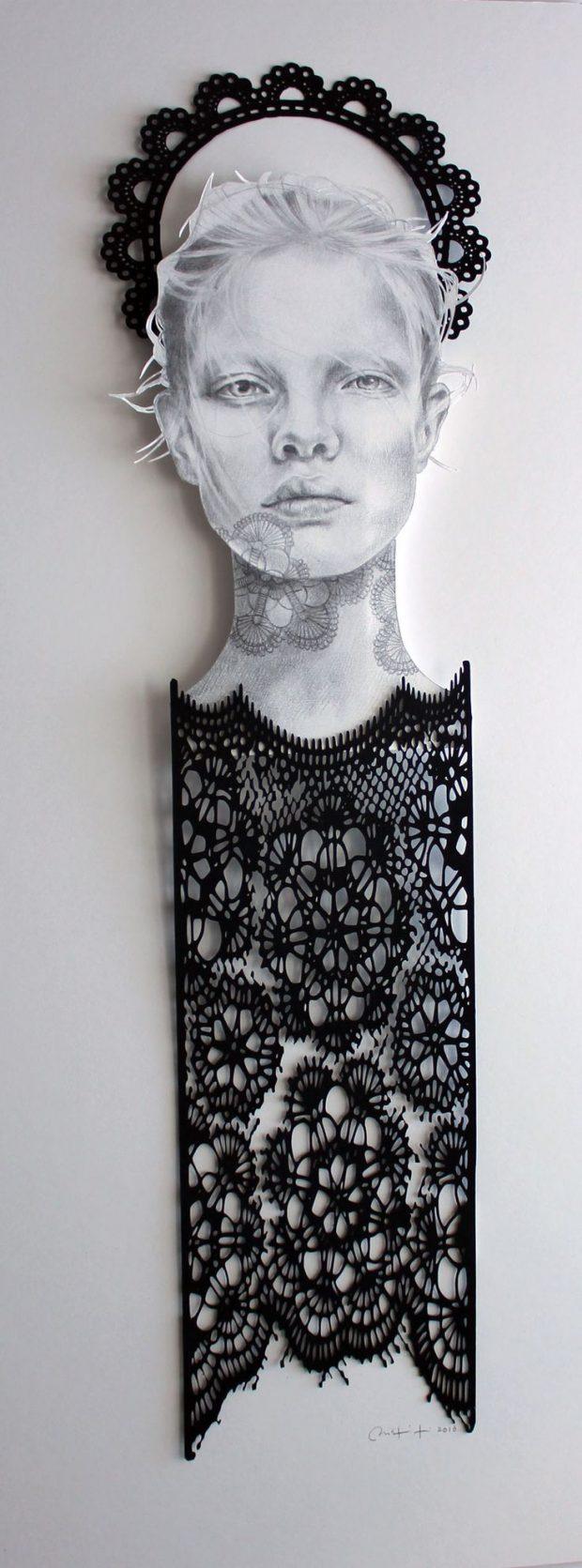 Christine Kim aus Toronto verbindet Illustration und Paper Art. www.christinekim.ca