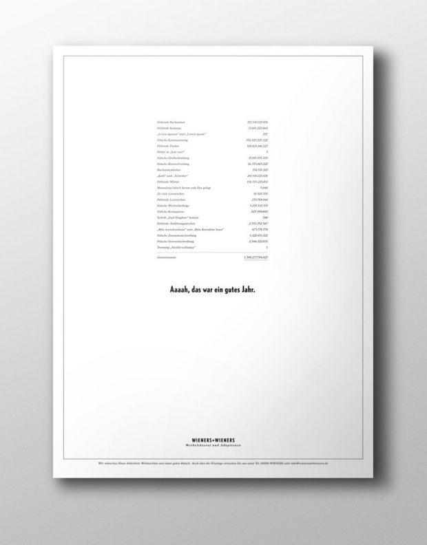 Wieners + Wieners: Broschürengestaltung