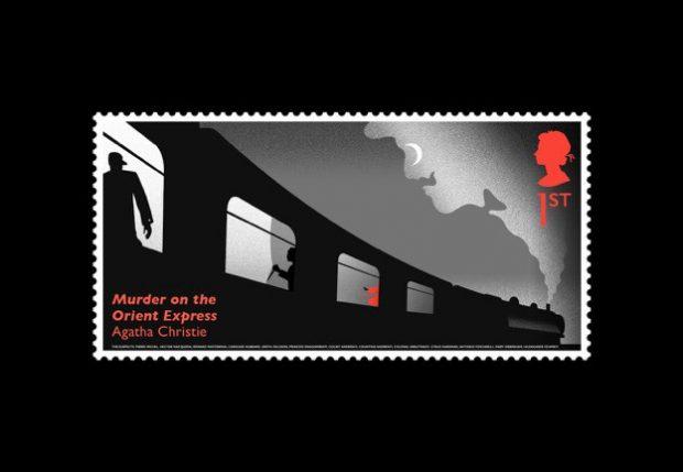 Der Mörder versteckt sich hinter dem Vorhang, der mit wärmeempfindlicher Farbe gedruckt wurde.
