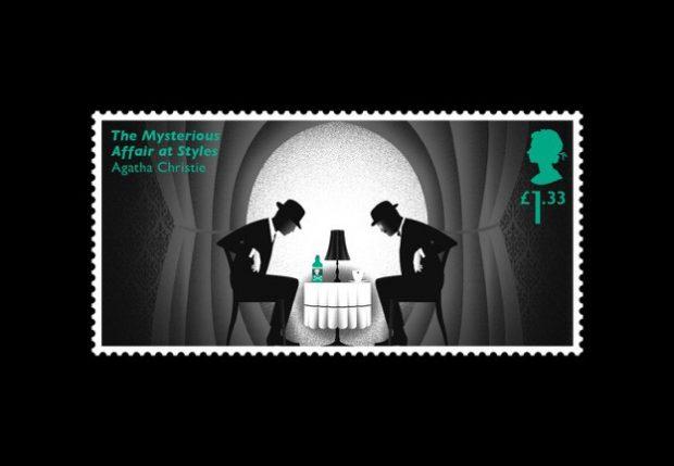 Die Briefmarke mit dem Totenkopf wiederholt sich als Miniatur auf der Giftflasche.