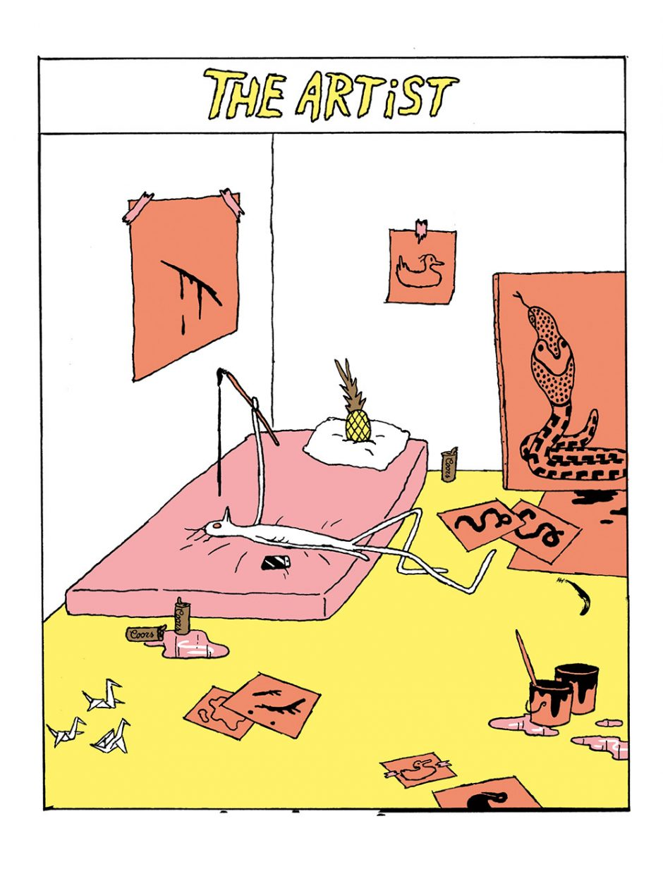Anna Haifisch: The Artist. Berlin (Reprodukt) 2016, 64 Seiten. 14 Euro. 978-3-95640-032-2  Man hat's nicht leicht als Künstler, wie die Comics von Anna Haifisch zeigen. Die bisher auf vice.com veröffentlichten tragikomischen Geschichten aus dem Kunstbetrieb gibt's jetzt als Buch und auf Deutsch.
