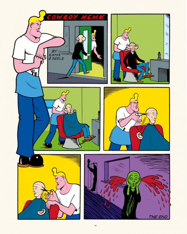 Herr Seele (Illustration), Kamagurka (Text): Cowboy Henk. Zürich (Edition Moderne) 2016, 122 Seiten. 29 Euro. 978-3-03731-156-1  Highlights aus der seit 1981 beliebten belgischen Comic-Serie um den unberechenbaren Henk, der mal als Friseur, Journalist, Maler oder Mamakind auftritt und vermutlich bisexuell ist.