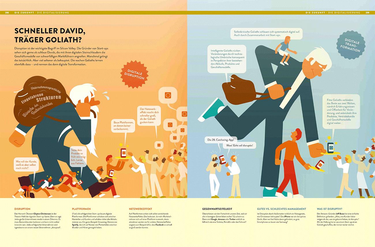 Jan Schwochows Studio Golden Section Graphics erstellte ebenso anspruchsvolle wie ansprechende Infografiken für das neue Buch »Wirtschaft verstehen« aus dem Econ-Verlag