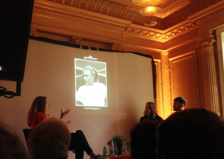Ricarda Messer (links) vom Flaneur Magazin führte das Gespräch mit Veronica Ditting und Richard O'Mahony von »The Gentlewoman«