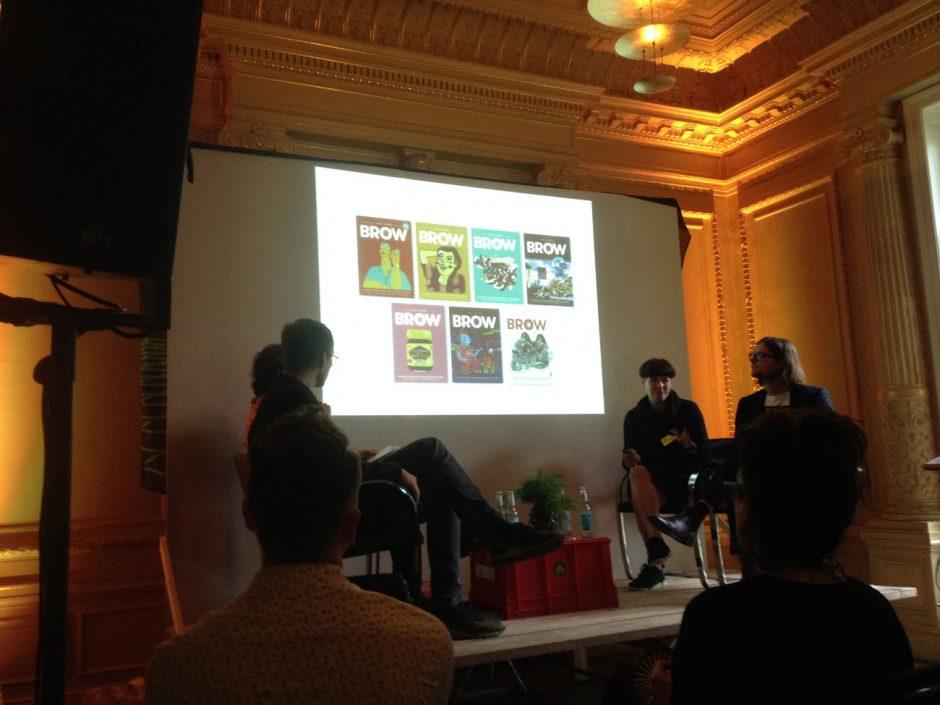 Bisherige Titel von Rosetta Mills und Sam Cooney (links) sprachen mit Fabian Ebeling und Steffen Greiner über ihr Magazin »The Lifted Brow«