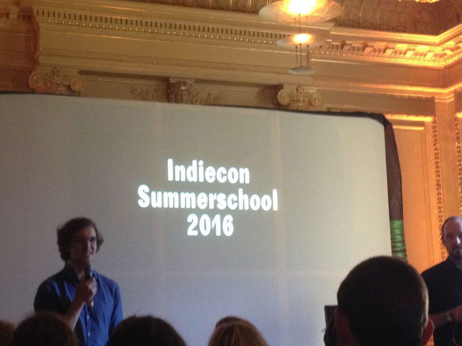 Die Präsentation der Indiecon Summerschool 2016