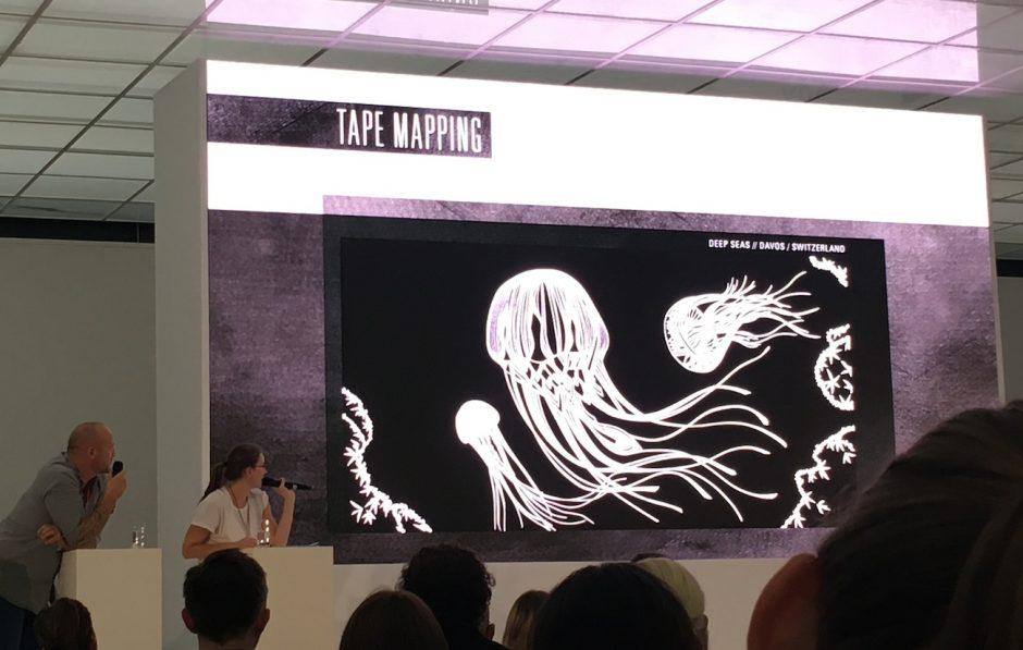 Tape Over macht Tape Art vom Feinsten - und verschönerte auch den Veranstaltungsort Württembergischer Kunstverein